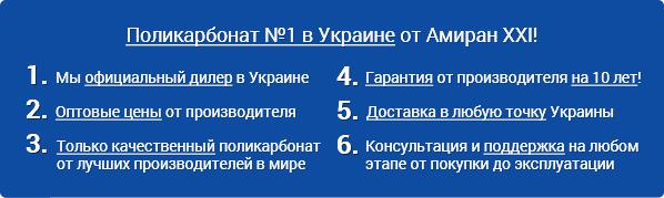 Амиран XXI - поликарбонат №1 в Украине